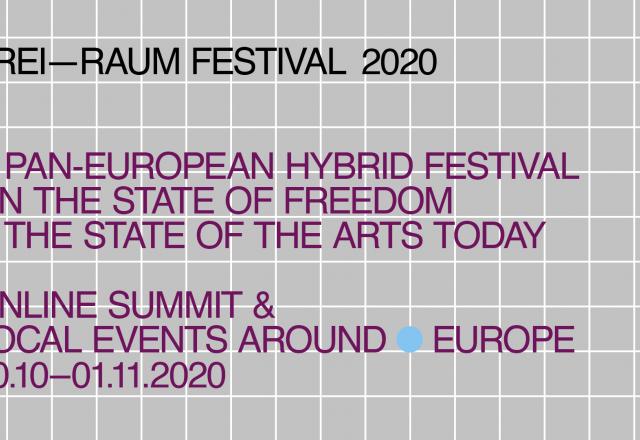 Το πανευρωπαϊκό υβριδικό φεστιβάλ Freiraum πραγματοποιείται από τις 30 Οκτωβρίου έως την 1η Νοεμβρίου 2020 (www.freiraumfestival.eu), αποτελώντας ένα διαδικτυακό συνέδριο, που διοργανώνεται ταυτόχρονα σε 22 πόλεις της Ευρώπης, σε συνεργασία με περισσότερους από 40 φορείς και με πρωτοβουλία του Goethe-Institut.  Πρωταγωνιστικό ρόλο στο Freiraum κατέχει η Θεσσαλονίκη, μέσα από το πρόγραμμα Common Lab του Goethe-Institut Thessaloniki και της ArtBOX, σε συνεργασία με την ΔΕΘ-HELEXPO και το Ινστιτούτο Hyperwerk