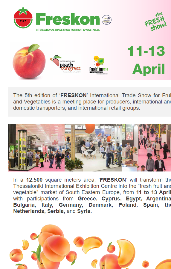 Freskon 2019 - International Trade Show for Fruit and Vegetables